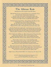 THE LONG WICCAN REDE POSTER A4 SIZE Wicca Pagan Witch Witchcraft BOOK OF SHADOWS