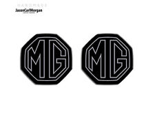 MG ZS ZR MGF LE500 MK1 Compatible Front & Rear Insert Badge 59mm Silver/Black