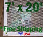 7' x 20' Clear Poly Tarp Room Divider Patio Porch Enclosure Fumigation Curtain