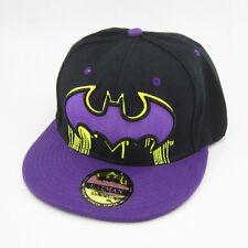New Black Purple batman hiphop Cosplay Snapback Adjustable baseball cap flat hat