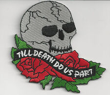 SKULL - TO DEATH DO US PART - IRON ON PATCH