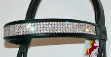 FSS Clear 4 Row SUPER BLING Rhinestone Crystal Browband with Swarovski Elements
