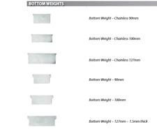 10 X 127mm Vertical Blind Bottom Weights Chainless DIY Parts Weight White Part
