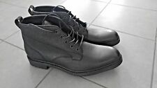 Rag & BONE Spencer Chukka Black Leather Boots Men's Size 46/US 13 Italy