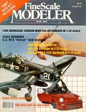FINE SCALE MODELER JUN 87 WW2 M18 HELLCAT_B-47_F4U-5N USN KOREA_EL DORADO CANYON