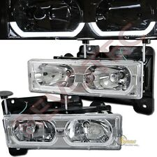 88-99 GMC Chevy Suburban Tahoe CK C10 Yukon i8 Chrome Headlights RH + LH