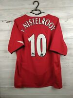V. Nistelrooy Manchester United jersey XL 2004 2006 home shirt football Nike