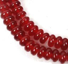 6x3mm Carnelian Agate Rondelle  Beads (60)