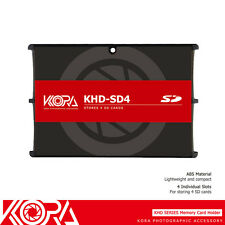 KORA Ultra Slim Memory Card Holder Storage Protector Fits 4SD Cards Compact Case