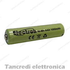 Pila batteria ministilo mini stilo ricaricabile AAA nimh 1000mAh 1,2V universale