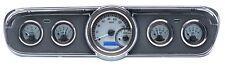 1965-66 Ford Mustang Dakota Digital Silver Alloy & Blue VHX Analog Gauge Kit