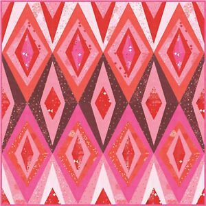 """Bohemian Spark Quilt Kit 65"""" x 65"""" with Moda Just Red Fabric by Zen Chic"""