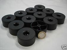 12 Stück Polsterfuß Möbelgleiter Möbelfüße Kunststoff schwarz 50x25 mm hoch NEU