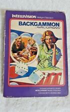 Intellivision BACKGAMMON GAME CARTRIDGE by Mattel with Box Manual & Overlay 1979