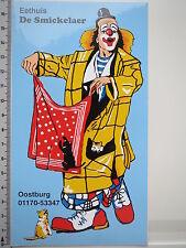 Aufkleber Sticker Eethuis Clown De Smickelaer Oostburg Holland Decal (S1186)