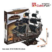 CubicFun 3D Puzzle The Queen Anne's Revenge Blackbeard's Ship T4005h 155 pcs