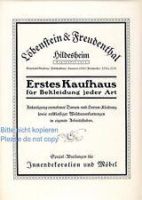 Kaufhaus Löbenstein & Freudenthal Hildesheim 1924 Reklame Werbung Möbel ad