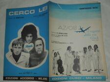 """SPARTITO MUSICALE DA COLLEZIONE 1970 """"I RAGAZZI DELLA VIA GLUCK""""I BACI""""-AZ/018"""