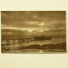 UK 1928 USED POSTCARD - MARGATE PIER, KENT vintage seaside sepia sunset. Stamps