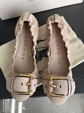 Burberry Joyston Leather Flats Size 36.5