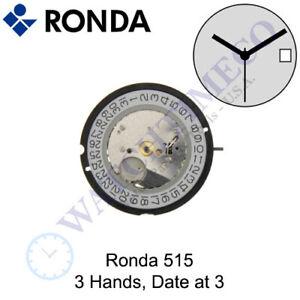 Genuine Ronda 515 Watch Movement Swiss Parts (Multiple Variations)