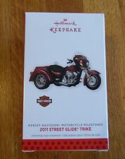 Hallmark Harley Davidson Motorcycle Milestones 2011 Street Glide Trike Ornament