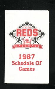 Cincinnati Reds--1987 Pocket Schedule--Kroger