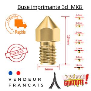 Buse imprimante 3D MK8 / M6 1.75mm 0.2,0.3,0.4,0.5,0.6,0.8,1mm laiton nozzle