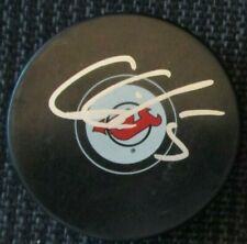 Connor Carrick Signed New Jersey Devils Hockey Puck w/ Coa