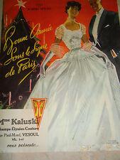 catalogue mode  - vêtement - vintage - 1953 ( ref 9 )
