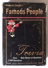 Professor Quizzles Famous People Quiz 1000 Questions 1984 Trivia Card Game