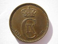 Dinamarca 1897/4 Bronce 1 Ore un UNC