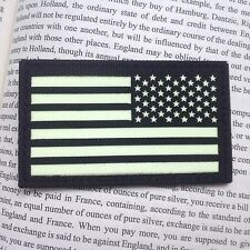 BLACK RIGHT IR US FLAG Reflect Tactical Army AIRSOFT PATCH/GLOW IN DARK