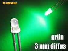 100 Stück LED 3mm grün diffus superhell