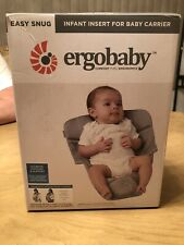 Ergobaby Easy Snug Infant Insert Grey Premium Cotton In Box  - BABY HOLDER CARRY
