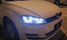 FARI VW GOLF 7 ANGEL EYES LED DAYLINE CROMO DRL R87 CON FRECCE A LED 2012>