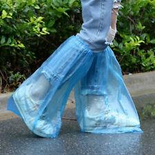 10 Pairs Waterproof Thick Plastic Disposable Rain Shoe Covers High-Top Anti-Slip