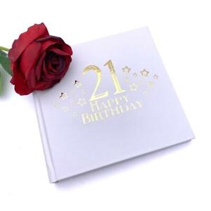 21st Birthday Photo Album For 50 x 6 by 4 Photos Gold Print