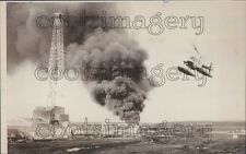 1977 Helicopter Exploratory Oil Well Cameron Island Arctic Canada Press Photo