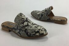 Womens Steve Madden Laaura Oxford Mules Shoes Snake Size 6