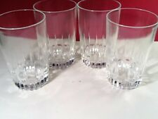 "(4) JUICE GLASSES  4 1/8""   ""LANCER""  made by NADIR FIGUEIREDO SA  BRAZIL--RARE"