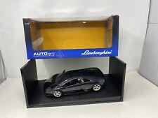 1/18  AUTOart 2001 Lamborghini Murcielago in Metallic Black 74513 READ