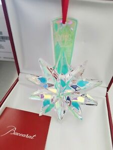 NEW in Box BACCARAT Crystal NOEL 2013 Annual Ornament IRIDESCENT