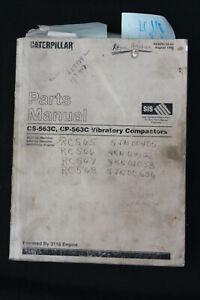 Genuine Caterpillar Parts Manual CS-563C CP-563 Vibratory Compactors