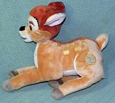"Disney Store BAMBI Plush Stuffed 14"" Long 9"" Tall Laying Down Tan TV Movie Toy"