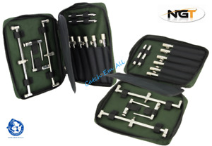 NGT Buzz Bar Case for Stainless Steel Bank Sticks Fits 30cm Bars Carp Fishing