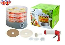 Food Dehydrator,6 Trays,Food Dryer,Fruit,Vegetable,Herb Dryer+1 Pureeing Syringe