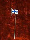 Alte EMAIL-Messing-Anstecknadel - Länderflagge FINNLAND