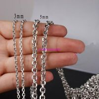 Lots Silver 2/3/4/5mm Stainless Steel Bulk Factory Wholesale Round Rolo Chain