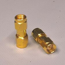 (2)Amphenol M39012/55-3028 SMA Male Female Turnaround Barrel Adaptor Connector